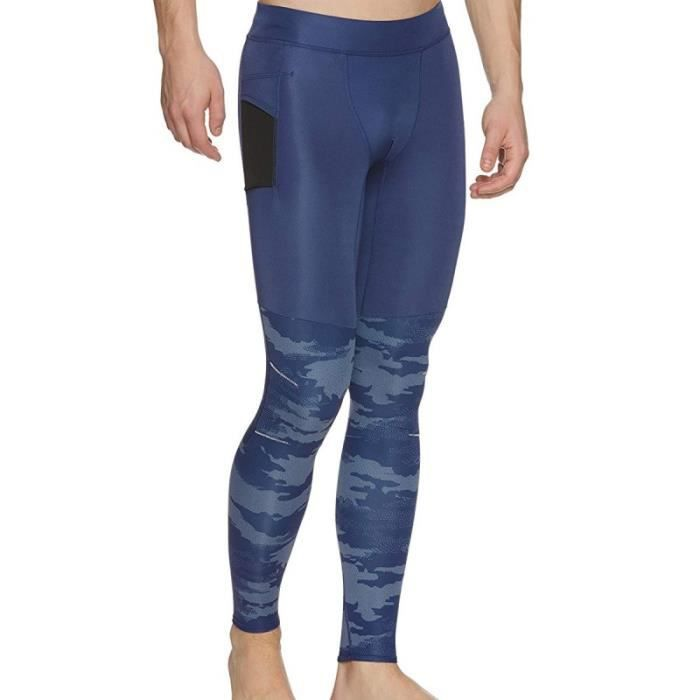 Collant Running Bleu Homme Adidas TKO TIGHT M