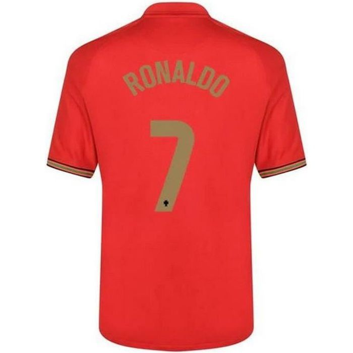 Nouveau Maillot Officiel de Football Homme Nike Portugal Domicile Euro 2020 Flocage Officiel Numéro 7 Ronaldo