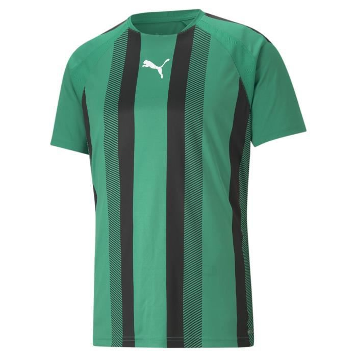 Maillot Puma Team Liga Striped - vert sapin/noir/blanc - S