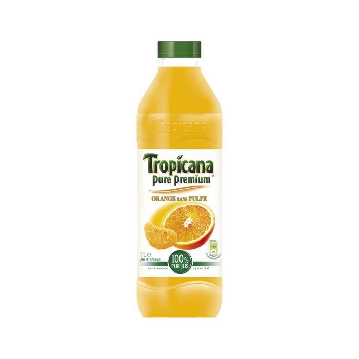 TROPICANA Jus d'Orange sans pulpe - 1 L