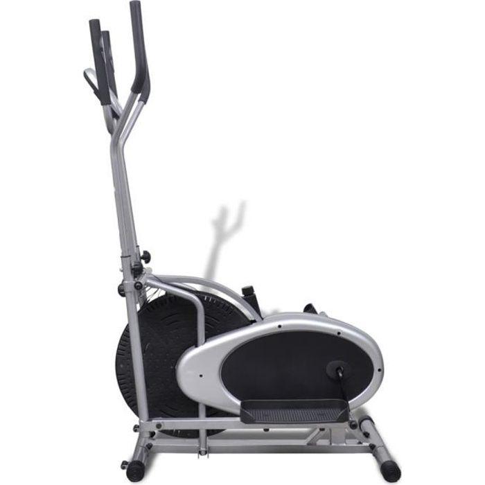 VGEBY Vélo elliptique 4 poteaux Pouls abilityshop