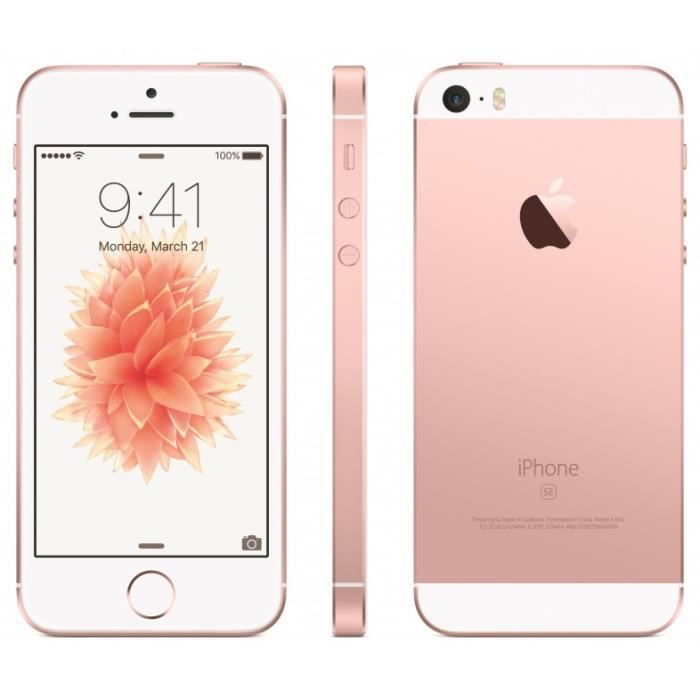 apple iphone se 64gb rose gold achat smartphone pas cher avis et meilleur prix cdiscount. Black Bedroom Furniture Sets. Home Design Ideas