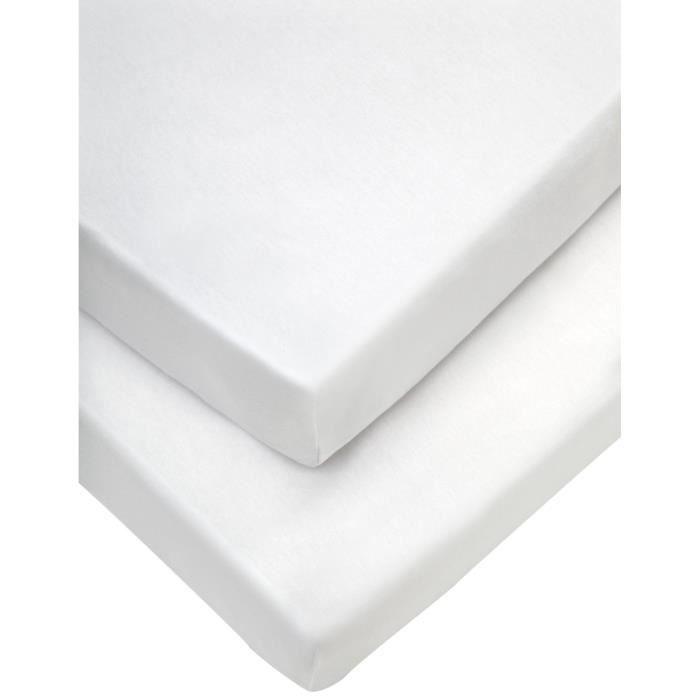 Coton 200/x 120/x 0,3/cm Biberna 809720//001//189/imperm/éable Prot/ège-Matelas en Molleton 3/Couches Blanc