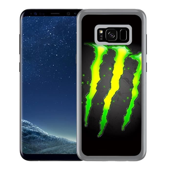 CASQUETTE Coque pour Samsung Galaxy S8 Plus monster energy l