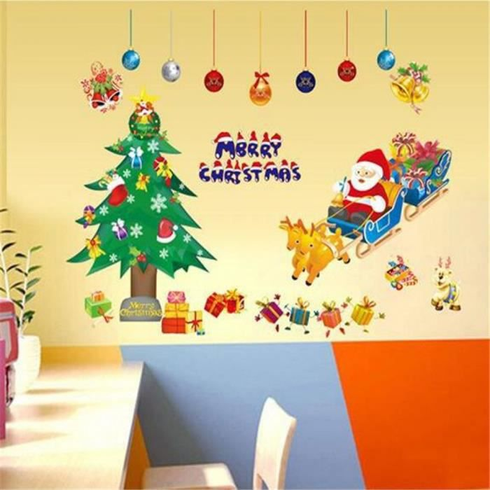 X p re no l de no l fen tre verre armoires p te for Decoration fenetre noel disney
