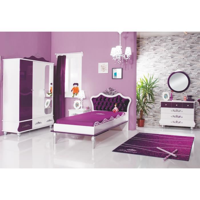 chambre violet achat vente chambre compl te chambre. Black Bedroom Furniture Sets. Home Design Ideas