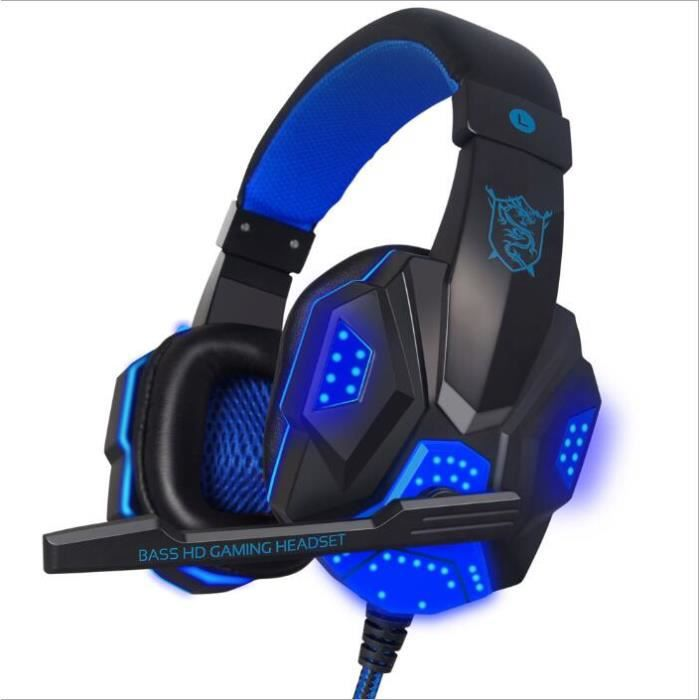 casque gamer hifi avec st r o mic et led pour jeux pc casque gaming casque couteurs avis. Black Bedroom Furniture Sets. Home Design Ideas