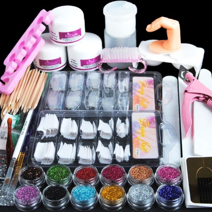 Coscelia Kit Manucure Ongles Nail Art Tips Faux Ongles