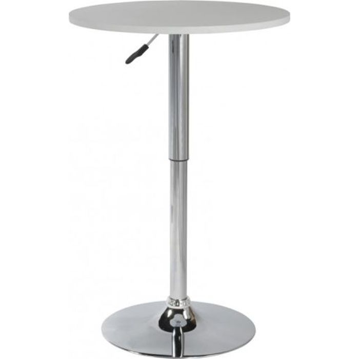 Table de bar cynthia blanc id 39 clik achat vente mange for Achat table bar