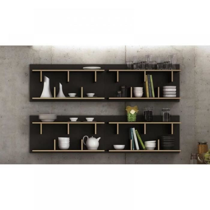 stairway bibliotheque etagere murale bois design achat vente biblioth que stairway. Black Bedroom Furniture Sets. Home Design Ideas