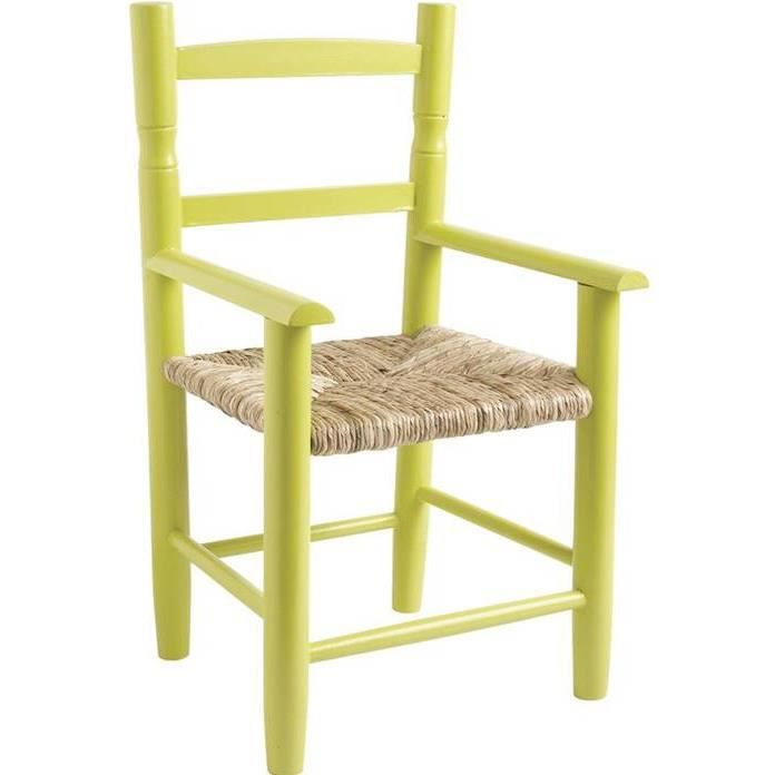 chaise enfant assise paille anis achat vente chaise vert cdiscount. Black Bedroom Furniture Sets. Home Design Ideas
