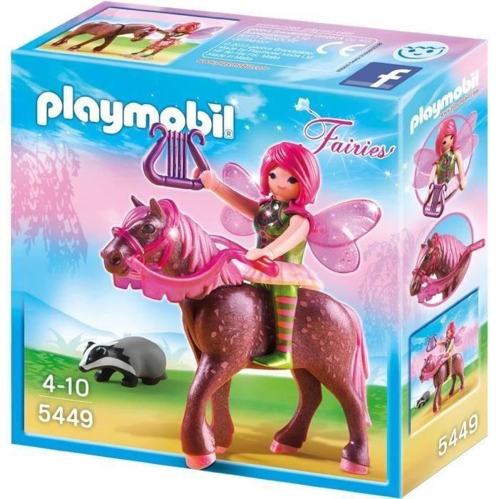 3 Poney NEUF Playmobil Animal Lot Cheval Marron