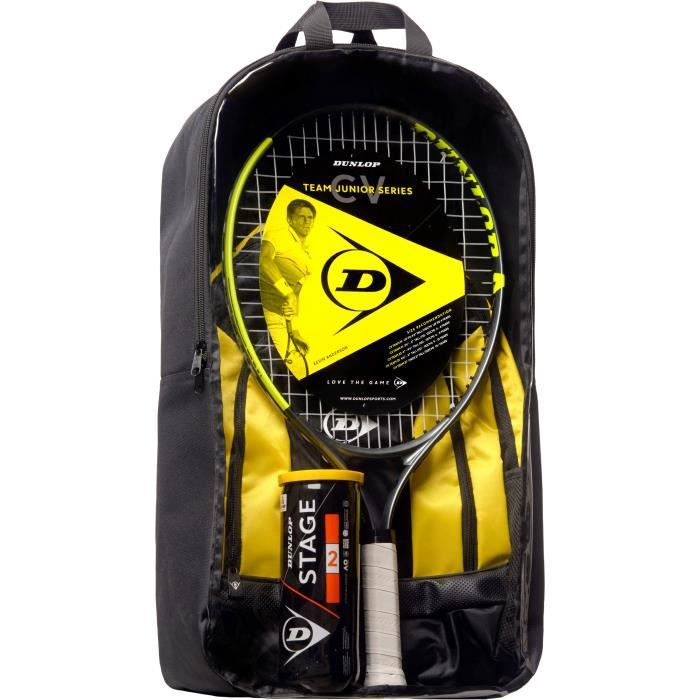 DUNLOP - Kit de tennis Junior CV Team 23 - Raquette/Sac à dos/ Balles