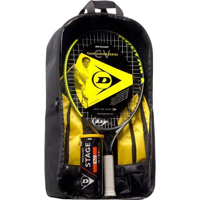 DUNLOP - Kit de tennis Junior CV Team 23 - Raquette/Sac à dos/ Balles