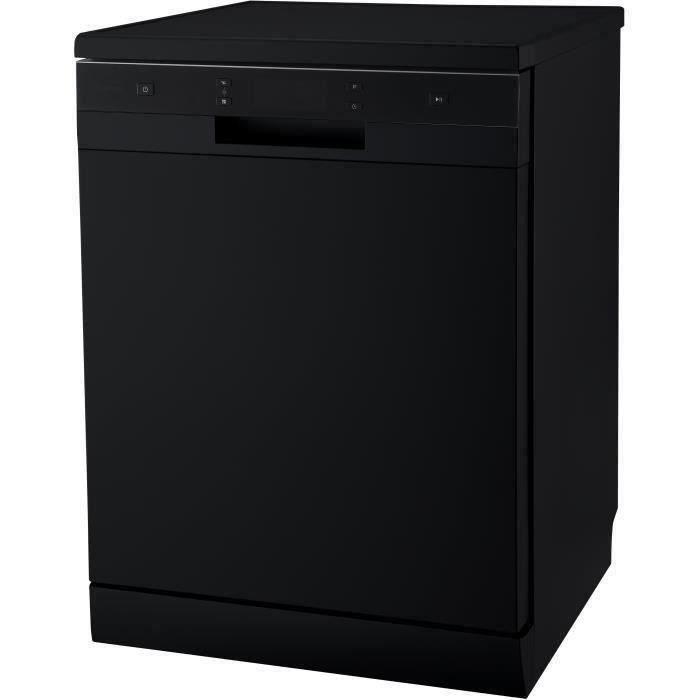 CONTINENTAL EDISON CELV1444B - Lave vaisselle pose libre - 14 couverts - 44 dB - A++ - L 60 cm - Bandeau noir