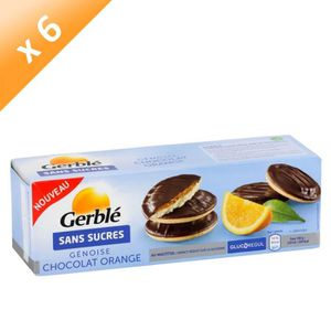 BISCUITS SECS GERBLE Génoise Chocolat Orange Sans Sucre - 140 g