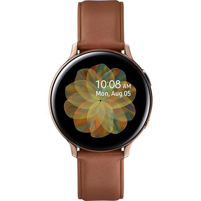 MONTRE CONNECTÉE Samsung Galaxy Watch Active 2 44mm Acier, Or Brill