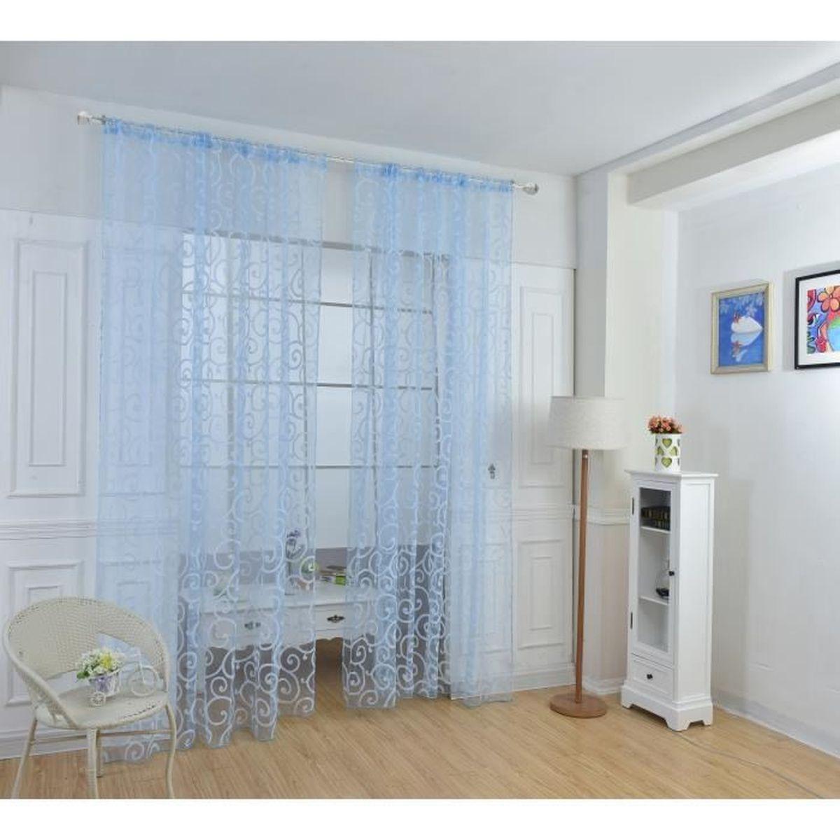 Rideau Pour Porte Fenetre 1pcs 100x270cm rideaux voilage pour porte fenêtre, rideaux