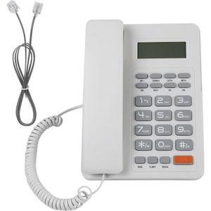 Téléphone fixe Blanc de téléphone fixe de DTMF / FSK de téléphone