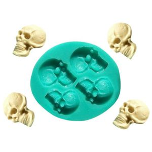 Skull Head Silicone Fondant Gâteau Décoration Moule chocolat Moule Halloween Party New