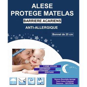 PROTECTION MATELAS  Alése Enfant Lit Anti-Acariens Anti-Allergique (60