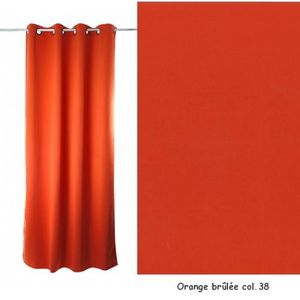 RIDEAU OBSCURCISSANT souple (Orange brulée Col.38)