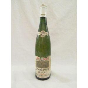 VIN BLANC muscat ernest preiss étiquette abîmée blanc 1990 -