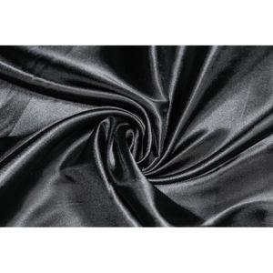 TISSU Tissu Satin Polyester Noir -Au Mètre
