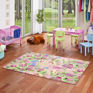 TAPIS Tapis de jeu pour enfant Girls Little village moti