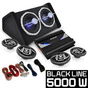 AMPLIFICATEUR HIFI Pack Sono 4.1 Black Line 520 Ampli Enceintes