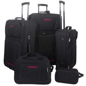 SET DE VALISES Set de valises noires 5 pièces
