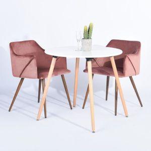 TABLE À MANGER COMPLÈTE Set de table à manger pour 2 personnes + 2 chaises