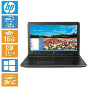 ORDINATEUR PORTABLE HP ZBOOK 15 core i7 16 go ram 1 To disque dur , or