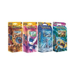 CARTE A COLLECTIONNER Lot de 4 deck Pokemon : Starter Iguolta + Mygavolt