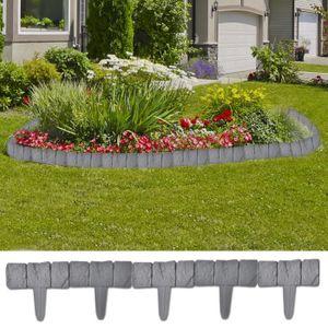CLÔTURE - GRILLAGE vidaXL Bordure de jardin imitation pierre 41 pièce