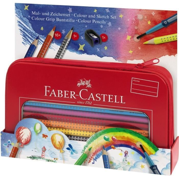 faber castell malette de peinture et coloriage achat vente crayon de couleur faber castell. Black Bedroom Furniture Sets. Home Design Ideas