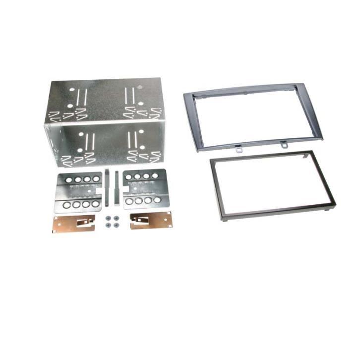 Adaptateur de façade 2-DIN Peugeot 308 / 308 CC gris