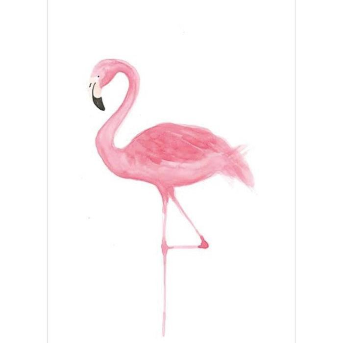 Sticker fenetre Flamant Rose 26x36cm