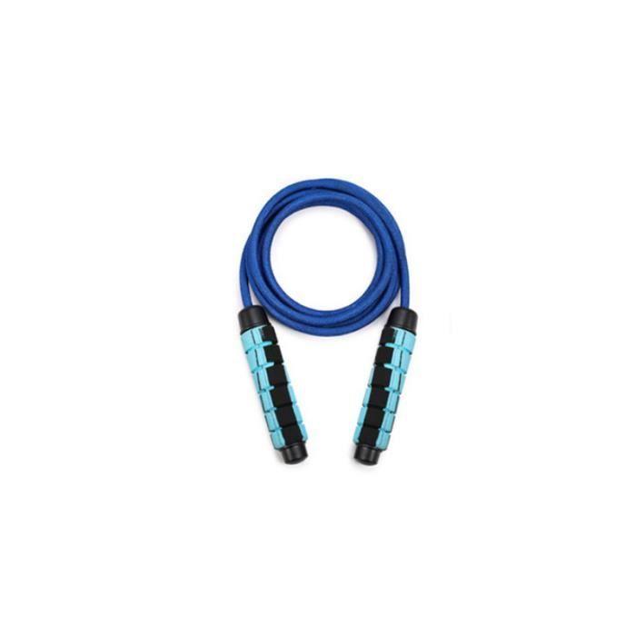 CORDE A SAUTER Mixte - Articles de sport d'entraînement à poids réglable à la corde à sauter - Bleu GT™