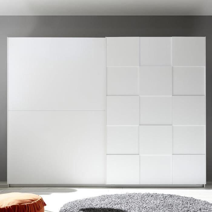 Armoire 275 cm design blanc laqué TIAVANO Blanc L 275 x P 64 x H 210 cm