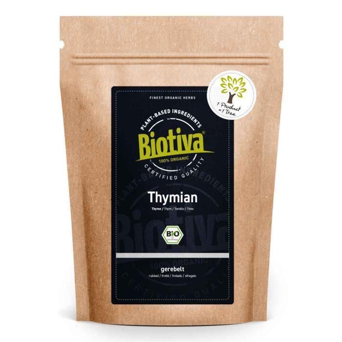 Thym bio 200g - Thym véritable, coupé - Thymus vulgaris - Sans agent de séparation