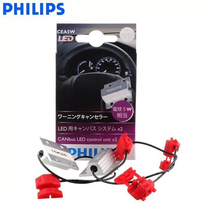 T10 5W 12956X2 -Adaptateur Canbus LED Philips H4 H7 H8 H11 H16 9005 9006 9012 HB3 HB4 H1R2 T10 T20 S25, décodeur de lampes de voitur