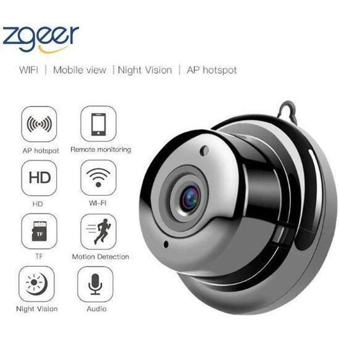Vision Nocturne et Détection de Mouvement Caméra de Surveillance Mini Camera Espion HD Portable Petite Caméra avec pour iPhone/ An