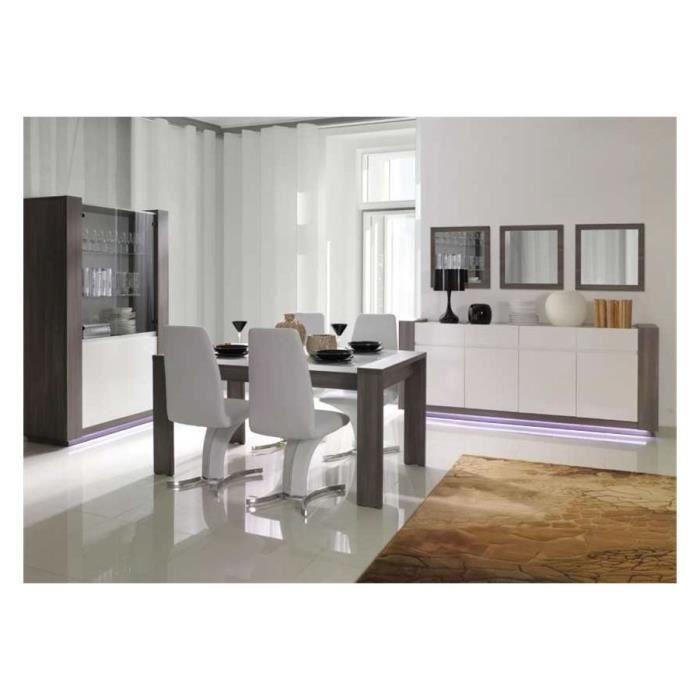 Table à manger design AUGUST - 180 - Gris et blanc