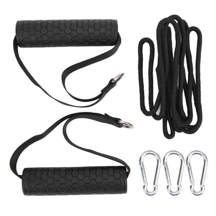 EJ.life Corde à triceps avec bande de résistance Bricolage Triceps Presse Poulie Câble Machine Attachement Système Grip Poignée