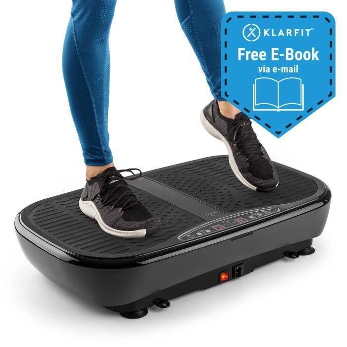 Klarfit Vibe 3DX Pro Plaque Vibrante & oscillante - 4 programmes d´entraînement fitness & mode 3D - télécommande - 2x 200W - noir