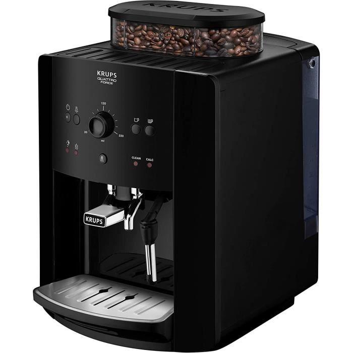 KRUPS ARABICA EA811010 - Machine expresso avec broyeur - 1450W - Réservoir d'eau 1,7L - Café en grains - 15 bars - Noire