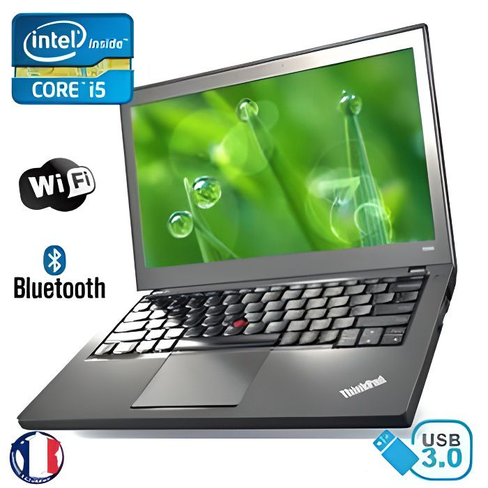 Ultrabook Lenovo Thinkpad X240 Intel Core i5 Ram 8Go Hdd 1000Go