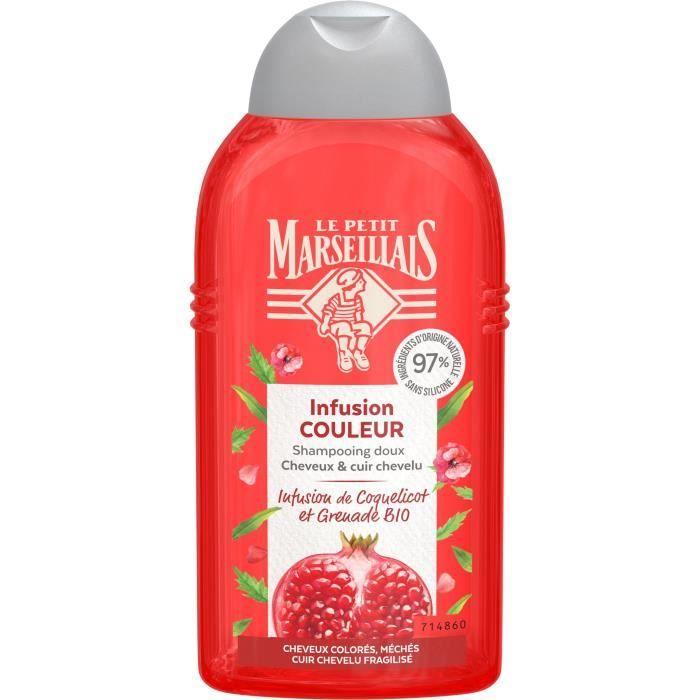 Shampooing Le Petit Marseillais Infusion Couleur coquelicot et grenade Bio 250 ml