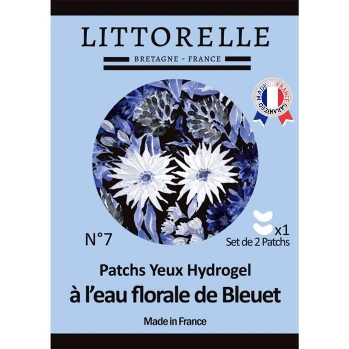 Patch Yeux Hydrogel à l'eau florale de Bleuet – Made in France – Hydrate, Apaise et Illumine le regard – Anti-cernes – Anti-poches